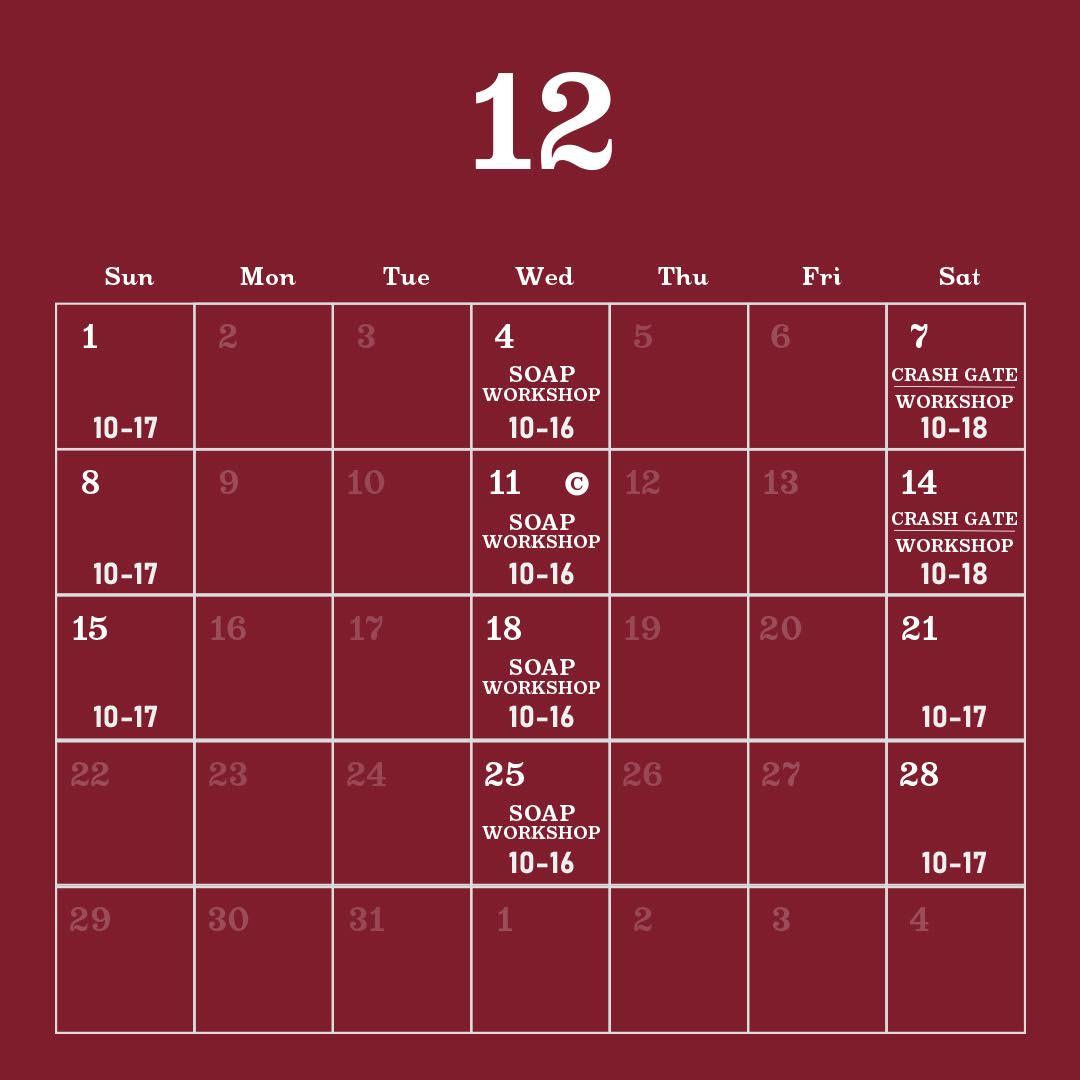 毎月カレンダー2019年12月
