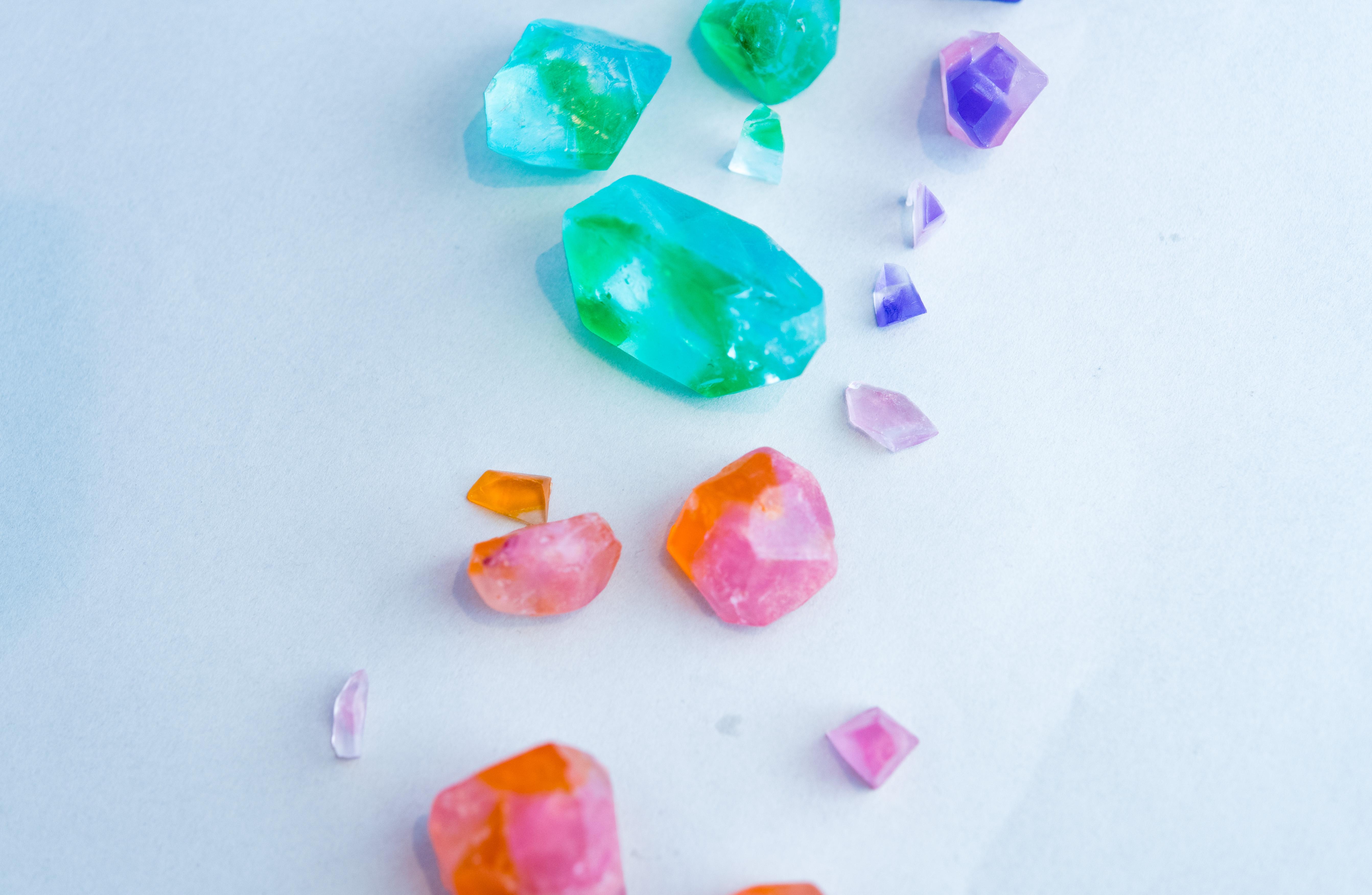 小さな宝石石鹸