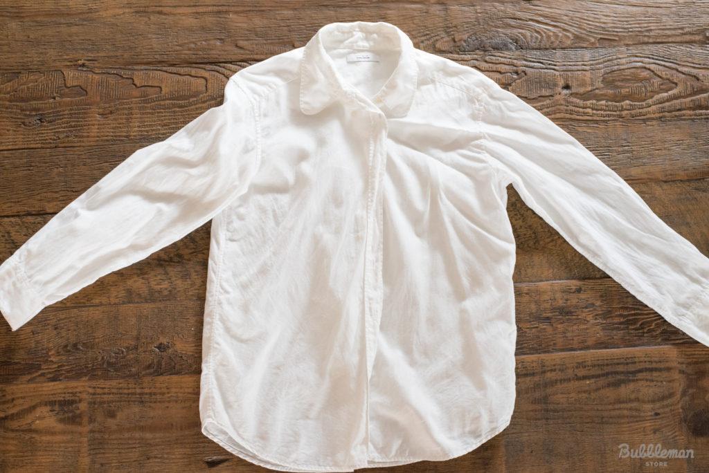 お父さんの白シャツ