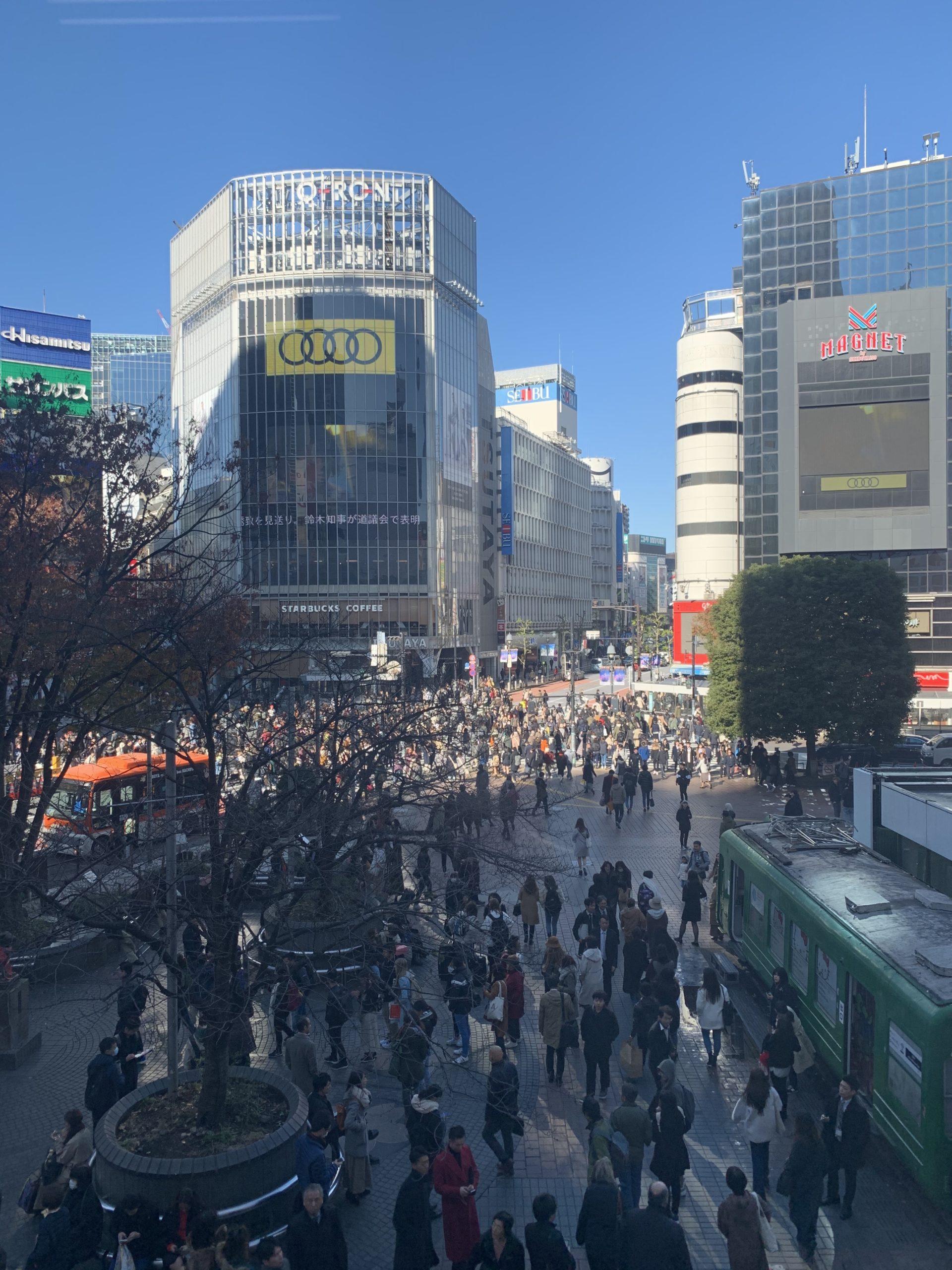 東京の渋谷スクランブル